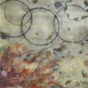 Encaustics II painting by Santa Barbara artist, Karen Lehrer