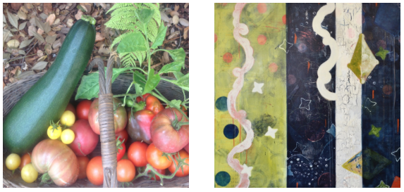 Color Inspiration from My Veggie Garden