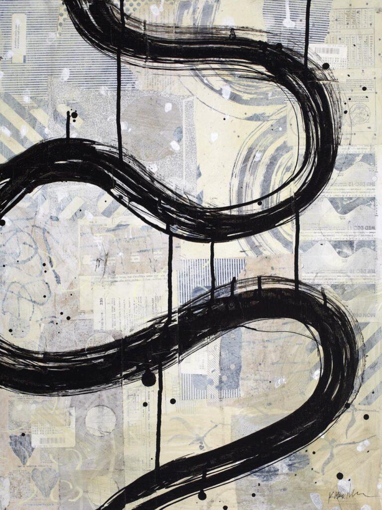 Brushstroke Medium 1 by Karen Lehrer
