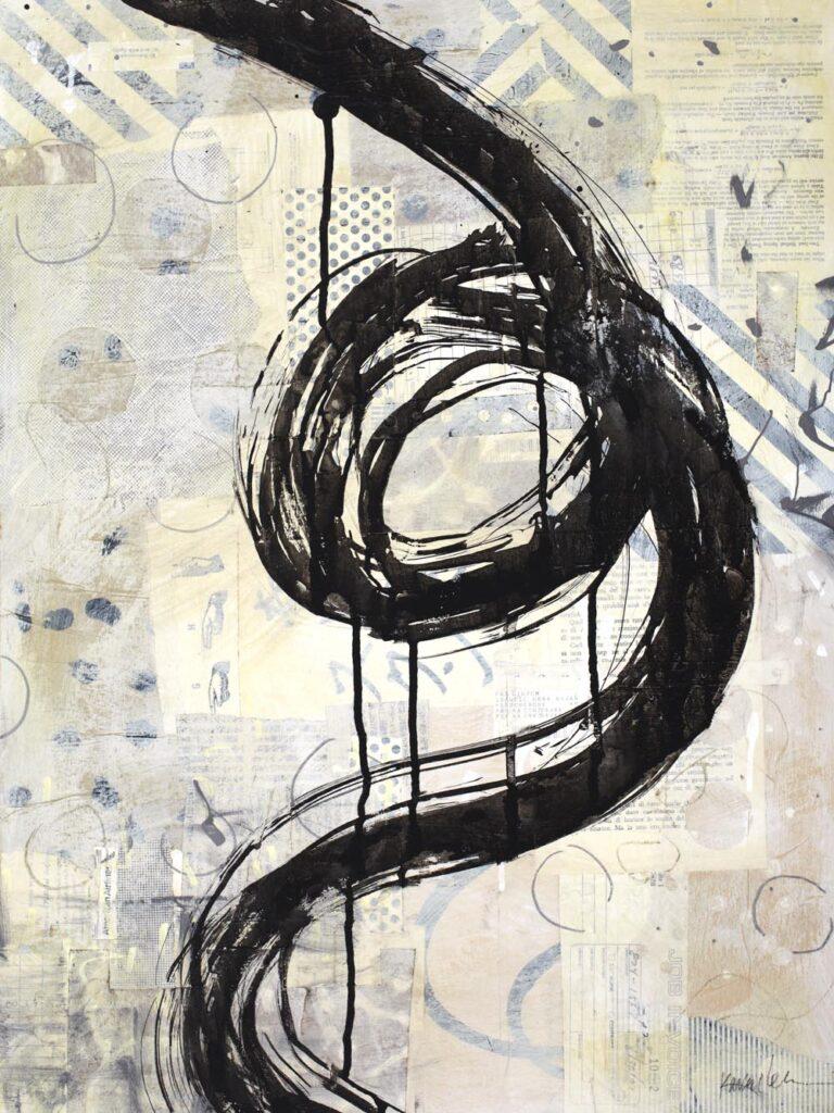 Brushstroke Medium 2 by Karen Lehrer