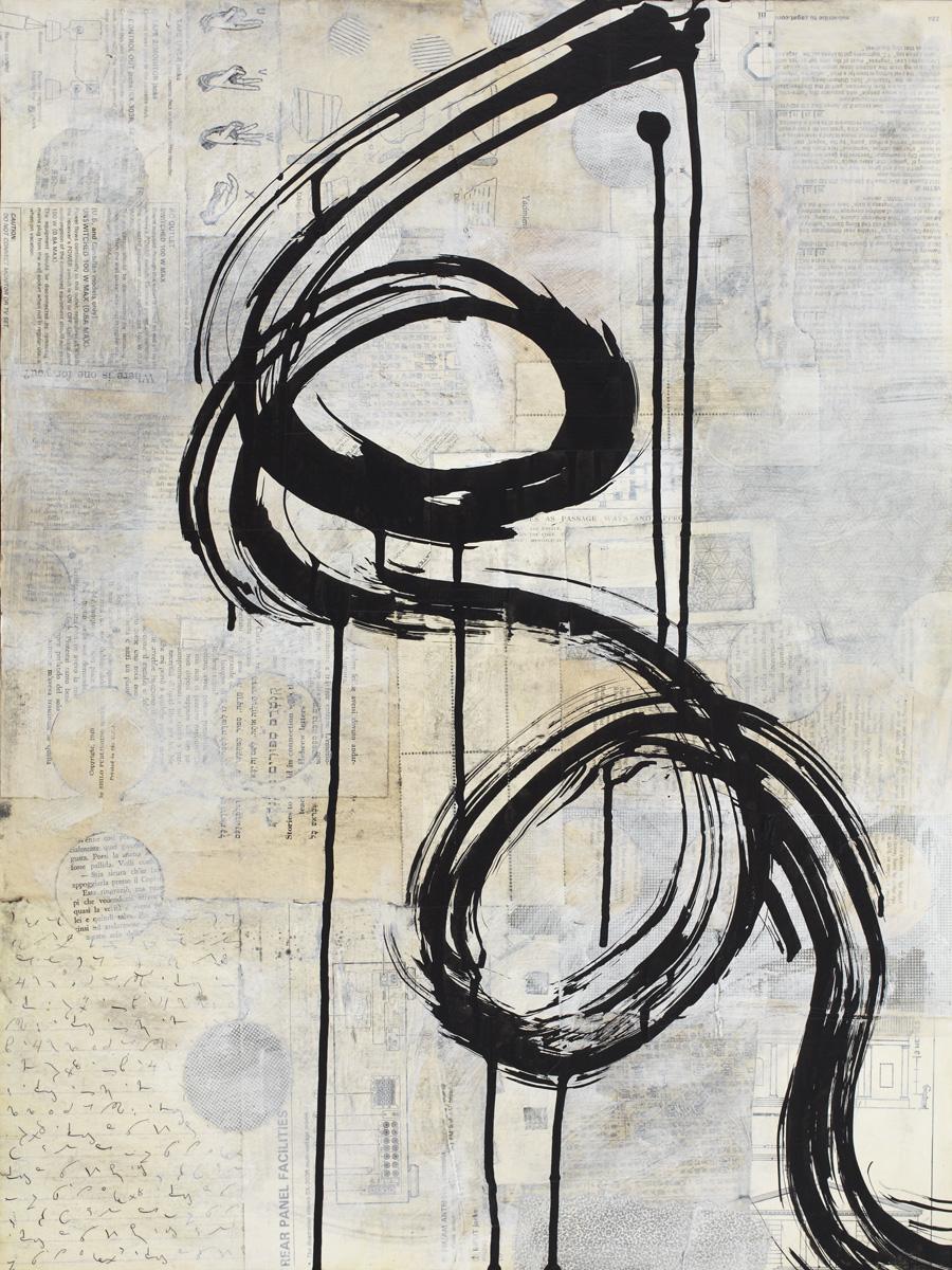 Brushstroke Medium 3 by Karen Lehrer