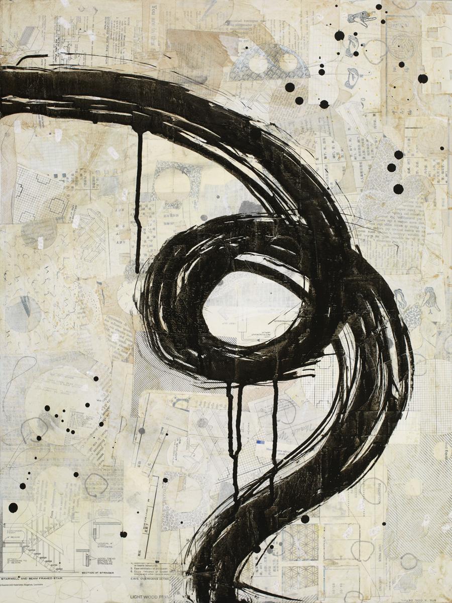 Brushstroke Medium 4 by Karen Lehrer